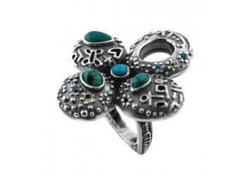 Египетски сребърен пръстен oaREG1 TQ