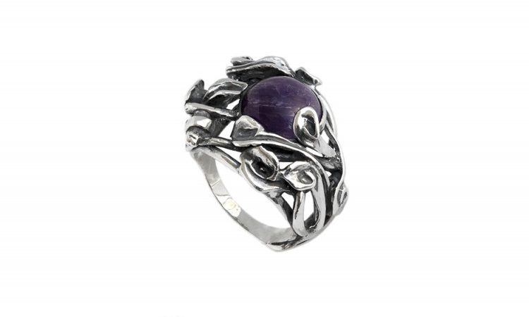 Сребърен пръстен Аметист 1205R