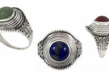 Сребърен пръстен с естествен камък 1228R
