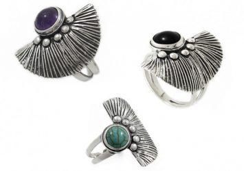 Сребърен пръстен с естествен камък 1235R