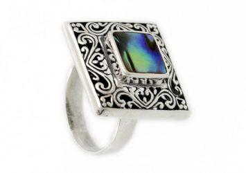 Сребърен пръстен Седеф 1261R