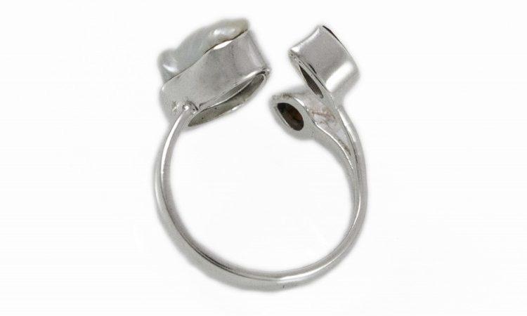 Сребърен пръстен Гранат и седеф ipR4g
