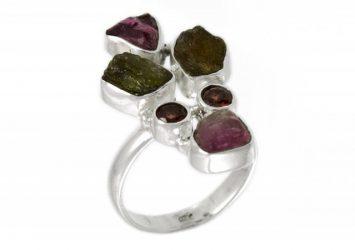 Сребърен пръстен Гранат и Принит ipRS19