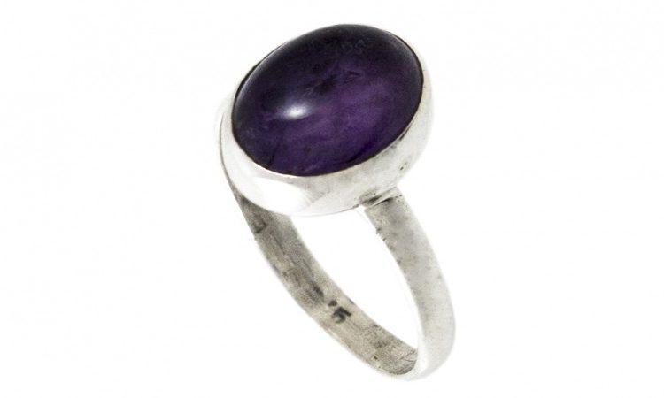 Сребърен пръстен Аметист ipRS3