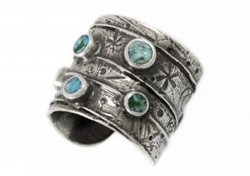 Сребърен пръстен тюркоаз R114