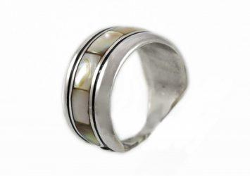 Сребърен пръстен седеф R3/Н   Shop24BG.com