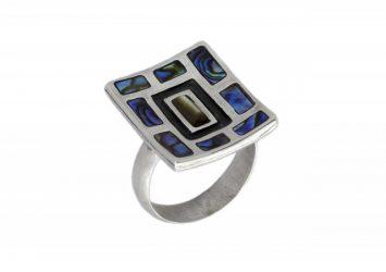 Сребърен пръстен Седеф R49/A