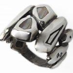 Сребърен пръстен седеф R7