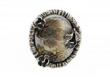 Сребърен пръстен Камеа R97/Б