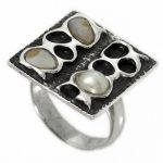 Сребърен пръстен Седеф и Перла R98