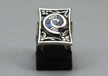 Сребърен пръстен със седеф R16
