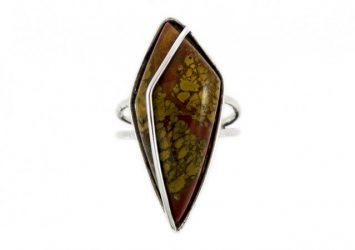 Сребърен пръстен Яспис ssRS15