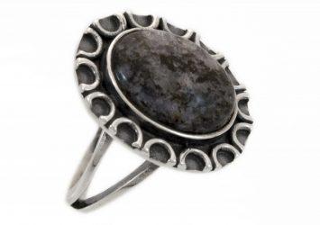 Сребърен пръстен кордиерит ssRS16