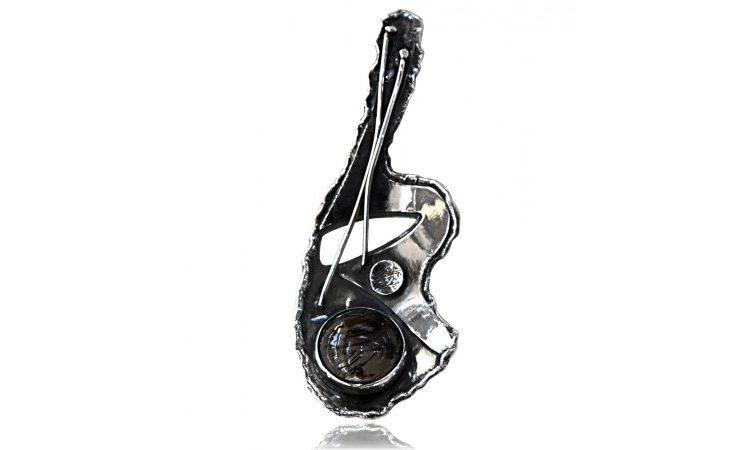 Сребърен медальон Сагенит AgMU029