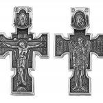 Сребърен кръст с разпятие KS038