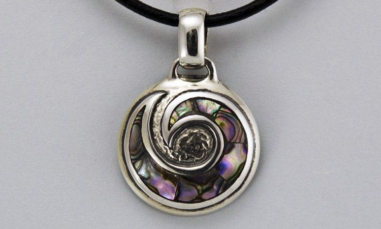 "Сребърен медальон ""Спирала"""