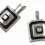 Сребърни обеци седеф E4/А