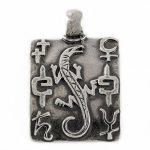 Сребърен медальон - гущер M35