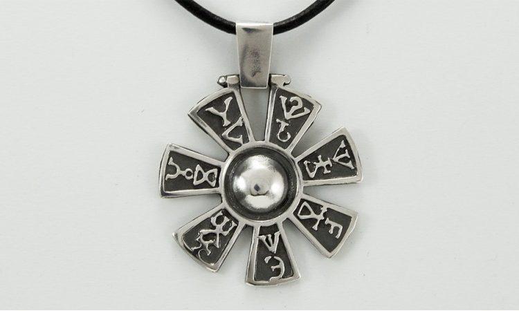 "Сребърен медальон ""Розета""-4"